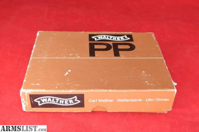 ARMSLIST - For Sale: Walther PP W/Box, Target,+ Manual