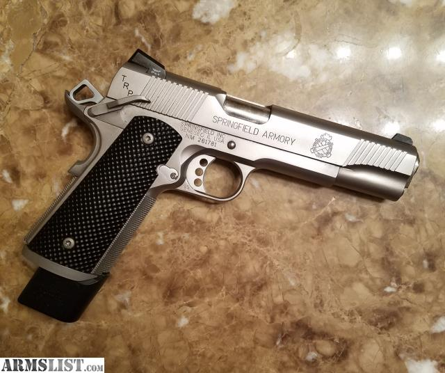 ARMSLIST - For Trade: Springfield 1911 TRP Stainless Mint