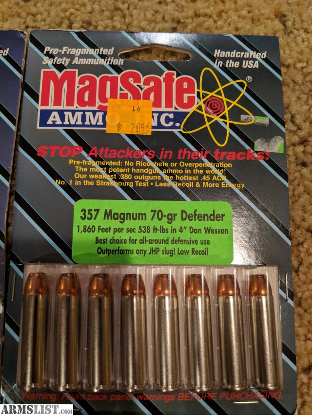 ARMSLIST - For Sale/Trade: Magsafe Defense Ammo