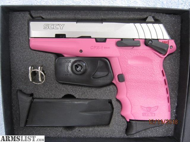 ARMSLIST - For Sale: SCCY CPX-1 9mm Semi Auto, Pink, Excellent!