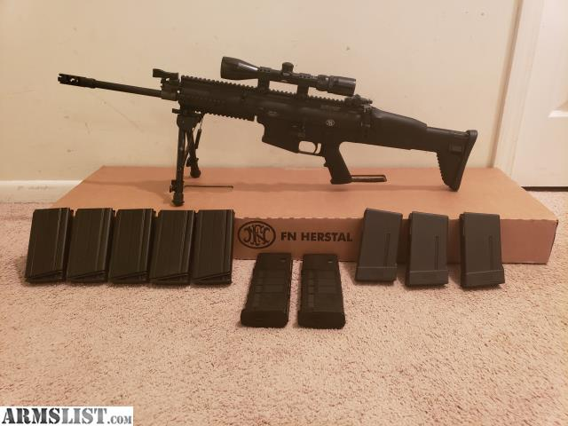 ARMSLIST - For Sale: Scar 17 with scope, bipod and 10 mags