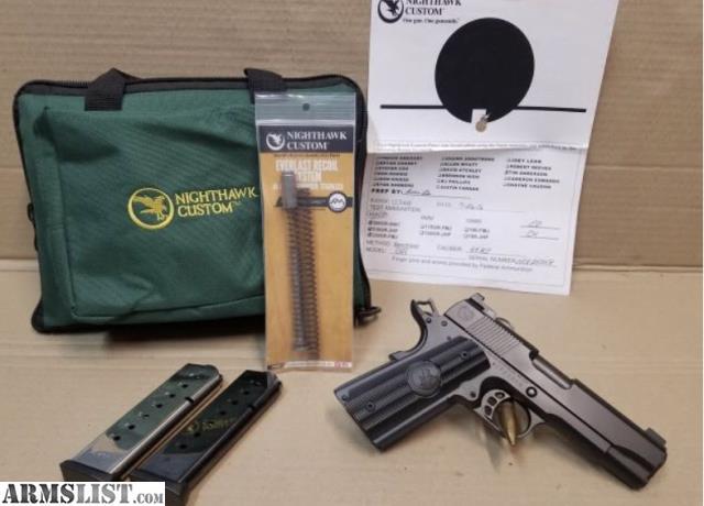 ARMSLIST - For Sale: Nighthawk Custom GRP 1911