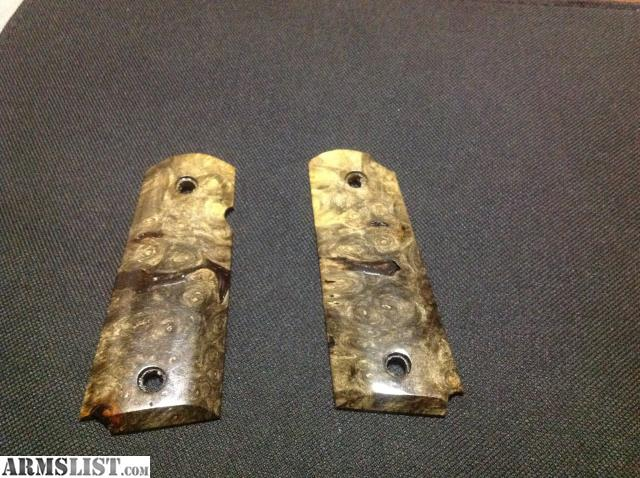 ARMSLIST - For Sale: 1911 Kimber Ultra size Burl wood grips