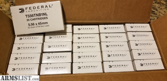 ARMSLIST - For Sale: Federal 5 56 62 Gr MK318 MOD-0 SOST