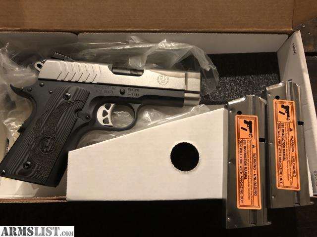 ARMSLIST - For Sale: Ruger SR 1911 officer 9mm