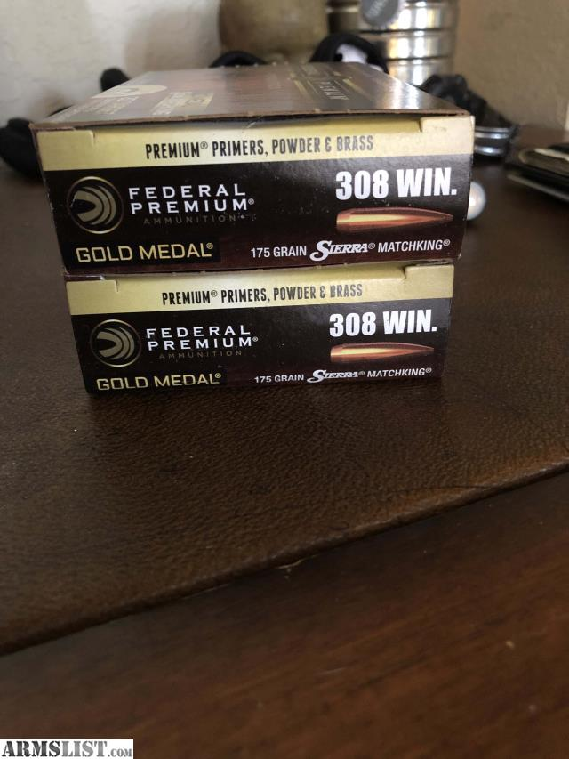 ARMSLIST - For Sale/Trade: Federal 308 175 Grain SMK