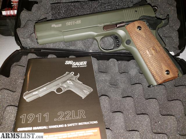 ARMSLIST - For Sale/Trade: SIG 1911 -22 O D  GREEN