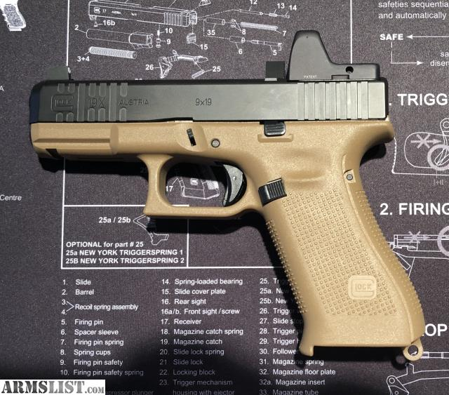 ARMSLIST - For Sale: Glock 19x w/ Custom Slide and RMR
