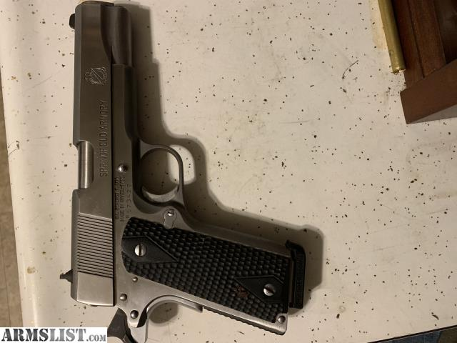 ARMSLIST - For Sale: Springfield 1911 A1 Stainless with extras