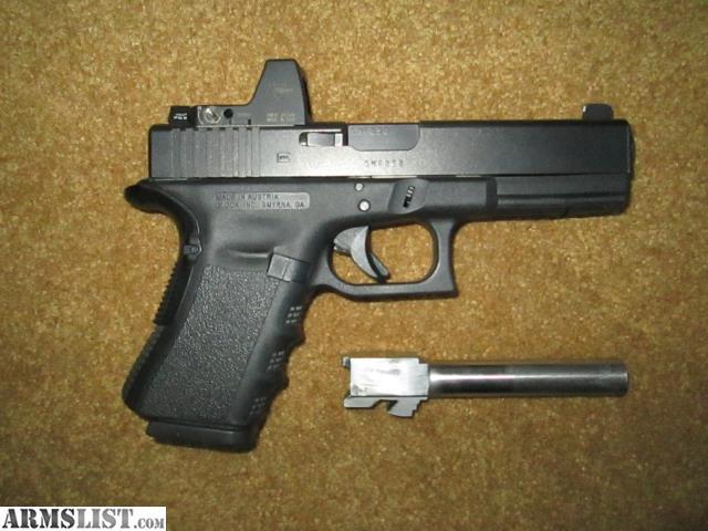 ARMSLIST - For Sale: Glock  40 cal w/ RMR & 9MM conversion