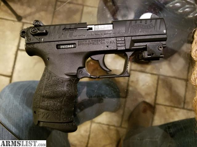 ARMSLIST - For Sale: Walther P22 with Laserlyte Laser