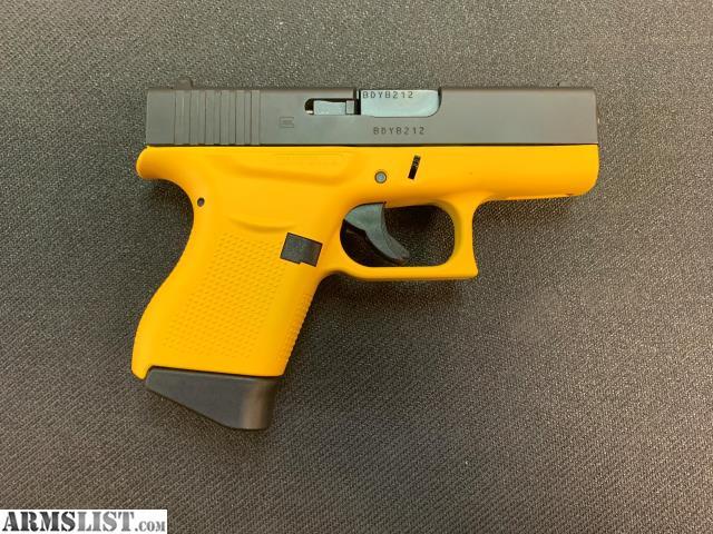armslist for sale glock 43 yellowblk 9mm