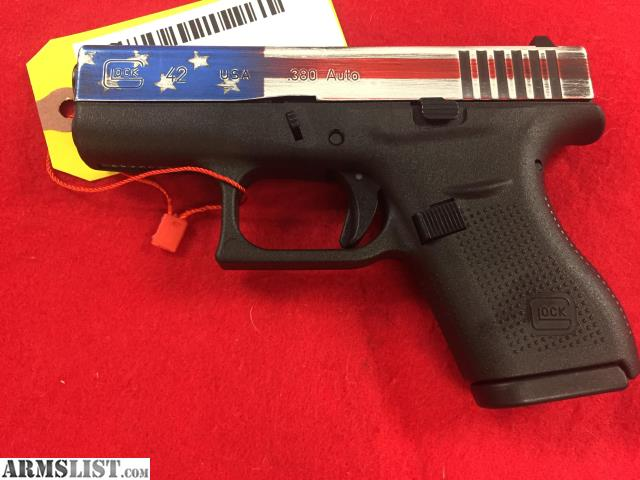 ARMSLIST - For Sale: NEW: Glock 42 USA Slide  380 acp 6+1 Rounds