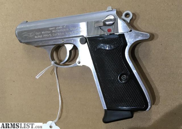 ARMSLIST - For Sale: Walther PPK/S 9mm Stainless