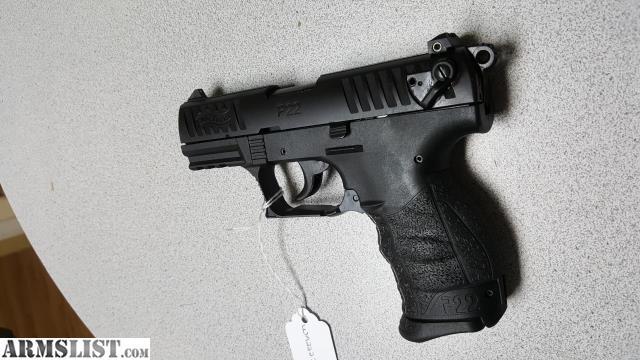 ARMSLIST - For Sale: Walther P22QD 22LR TB BLK 10RD NIB