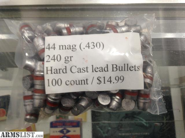ARMSLIST - For Sale: 44 mag cast lead bullets