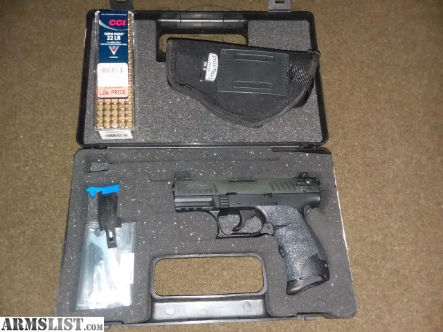 ARMSLIST - For Sale: Walther P22 w/box, holster, ammo, Talon Grips