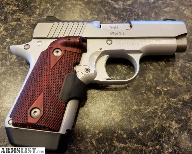 ARMSLIST - For Sale: Kimber Micro 9 Rosewood w/ Laser Grips