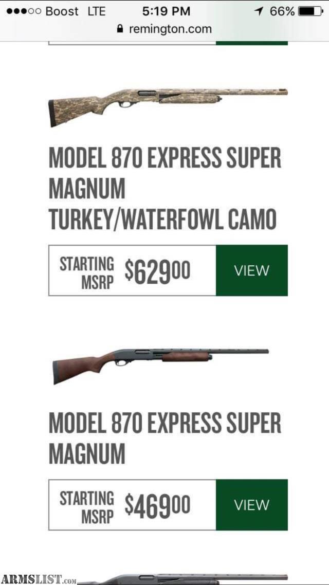 ARMSLIST - For Sale: Model 870 express super magnum turkey
