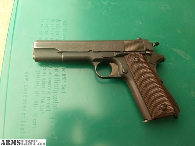 ARMSLIST - For Sale: WW1 Colt 1911 45 caliber pistol