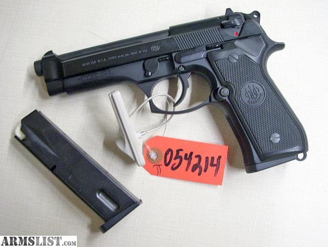 ARMSLIST - For Sale: Beretta 92FS 9MM #054214