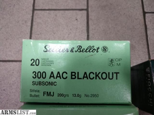 ARMSLIST - For Sale/Trade: 300 Blk Blackout Ammo