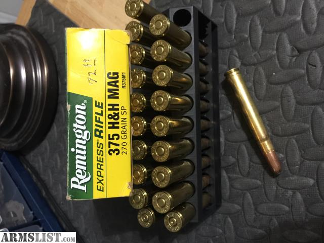 For Sale: Ammo_375 H&H Mag