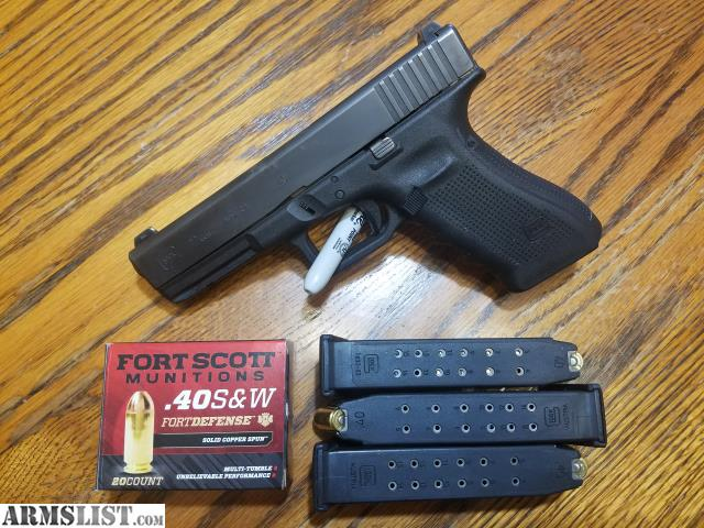 ARMSLIST - For Sale: Glock 22 Gen 4 with Night Sights, 3 Mags + Ammo
