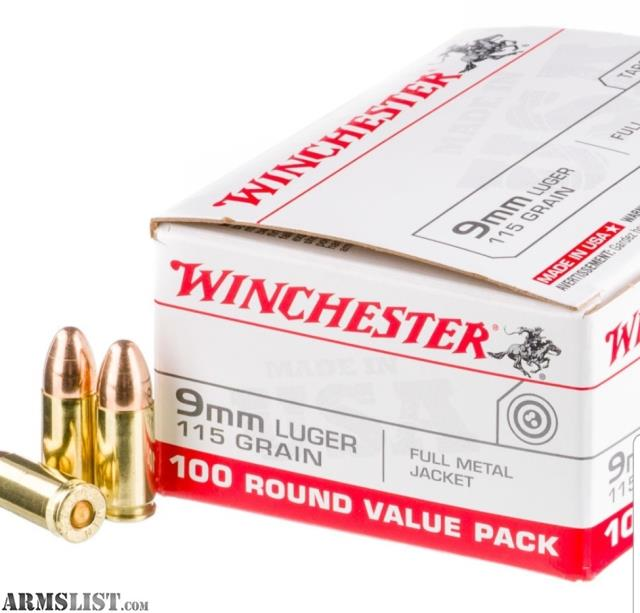 ARMSLIST - For Sale/Trade: 1,500 rounds of Winchester 9mm