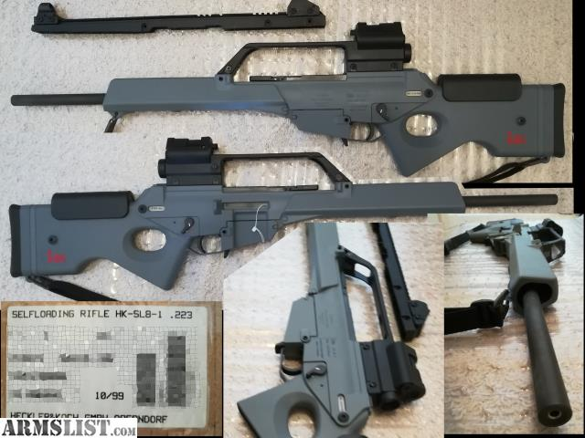 ARMSLIST - For Sale: SL-8 with G36 style Dual Optic - Barely