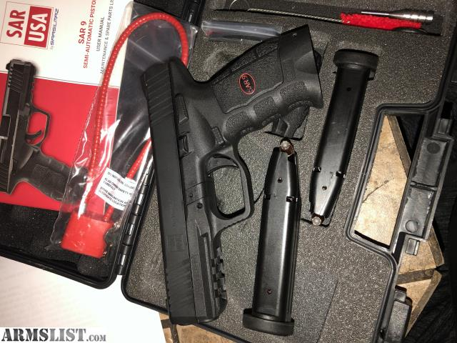 ARMSLIST - For Sale: SAR USA 9mm Glock 17/VP9 Clone  Must