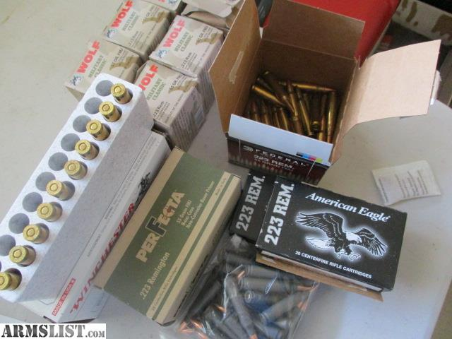 ARMSLIST - For Sale: 275 rounds 223 AR-15 ammo  223 various