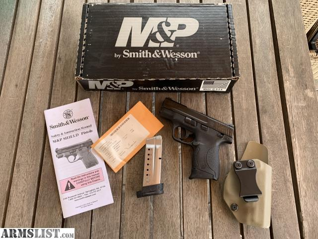 ARMSLIST - For Sale: Smith & Wesson Shield 9mm w/ box and IWB holster