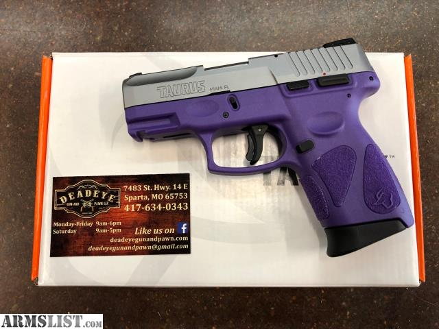 ARMSLIST - For Sale: Taurus G2C 9mm Two Tone SS/Purple