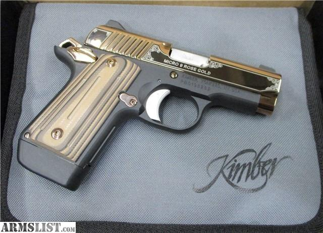 ARMSLIST - For Sale: Kimber Micro 9 Rose Gold Model, Factory