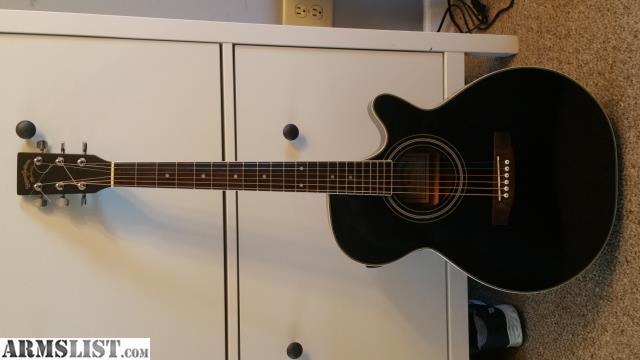 armslist for sale trade martin sigma guitar black cutaway acoustic. Black Bedroom Furniture Sets. Home Design Ideas