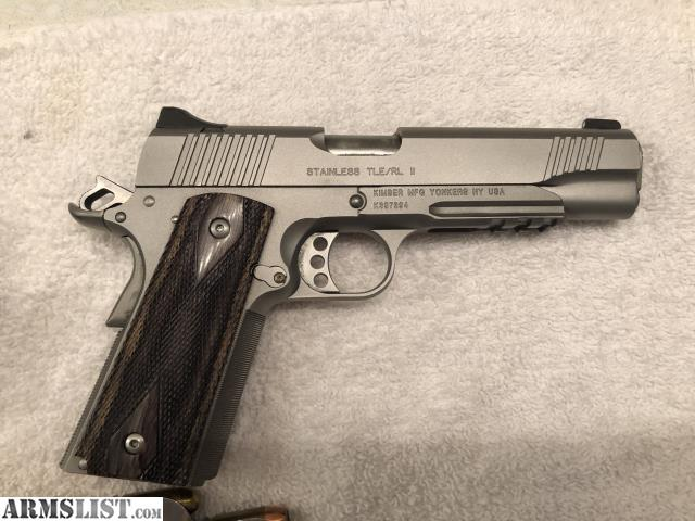 ARMSLIST - For Sale: Kimber TLE/RL 1911 Stainless Steal 45ACP