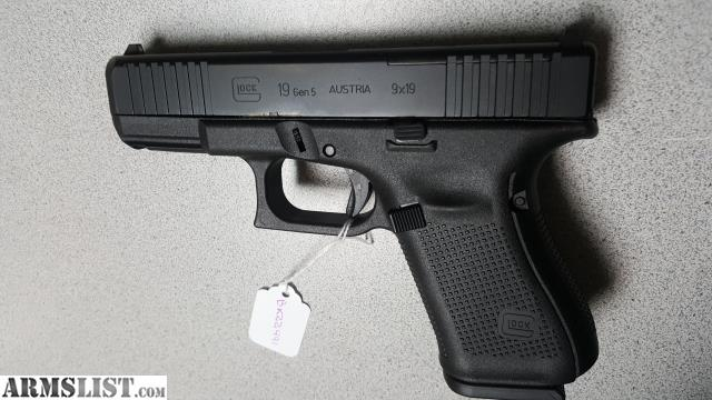 ARMSLIST - For Sale: MAP-GLOCK 19 GEN 5 MOS 9MM 3X15RD FS NIB