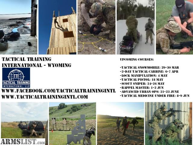ARMSLIST - For Sale: Upcoming Firearms and Tactical Training