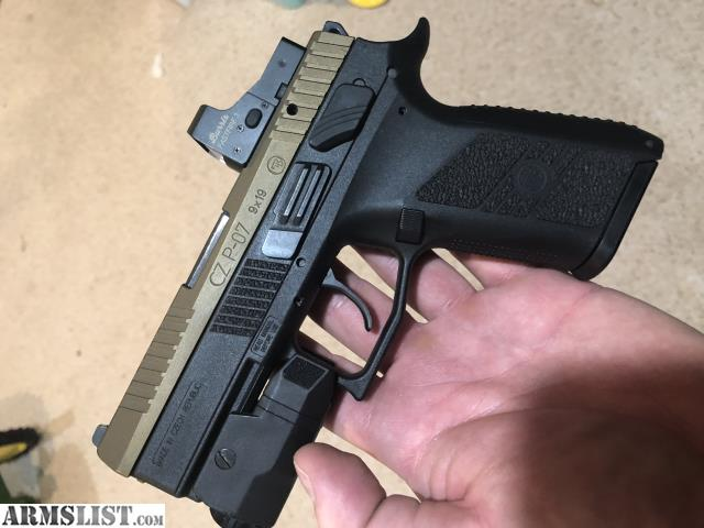 ARMSLIST - For Sale/Trade: Custom CZ P07 9mm with Burris red