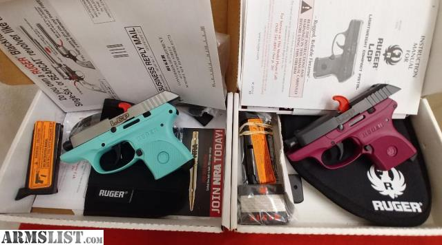 ARMSLIST - For Sale: Ruger LCP 380, Turquoise/Black in New, Unfired