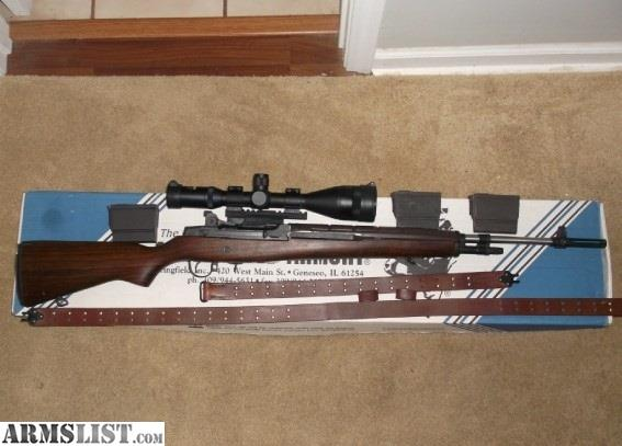 ARMSLIST - For Sale: Springfield M1A National Match With 4
