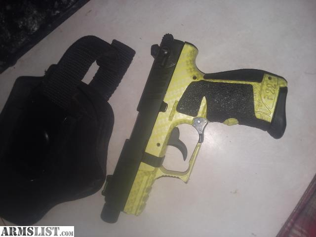 ARMSLIST - For Sale: Walther p22  Talo lime green carbon fiber