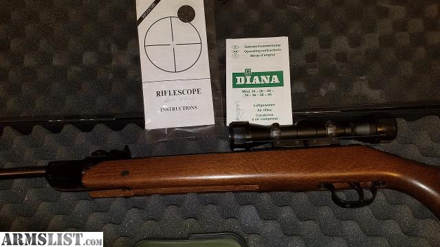 ARMSLIST - For Sale: DIANA PROFESSIONAL AIR RIFLE W/SCOPE