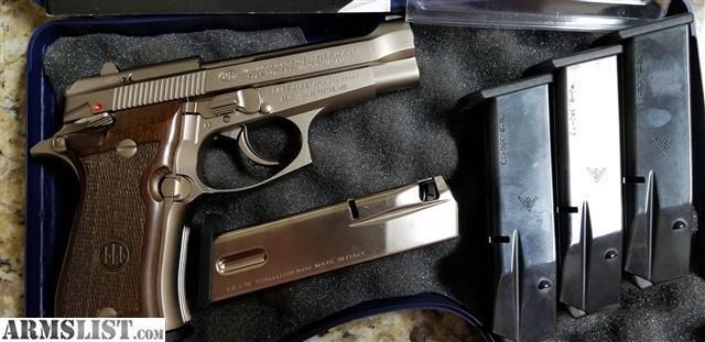 ARMSLIST - For Sale: Beretta 84FS in Nickel, 380 ACP w/5