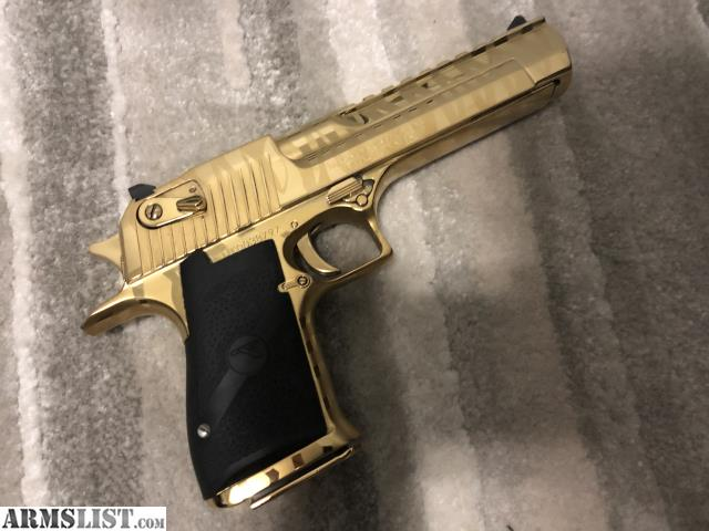 Armslist For Sale Gold Tiger Striped Desert Eagle 44 Mag