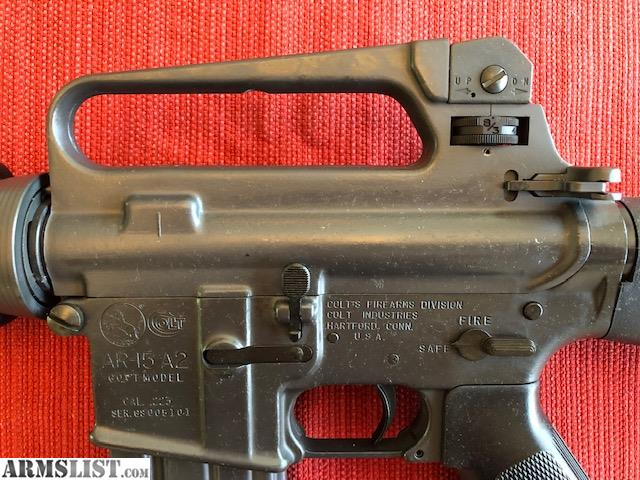ARMSLIST - For Sale: Colt AR15 A2 Government Pre-Ban Model