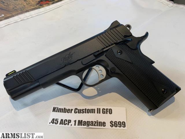ARMSLIST - For Sale: NEW Kimber Custom II GFO  45ACP Black