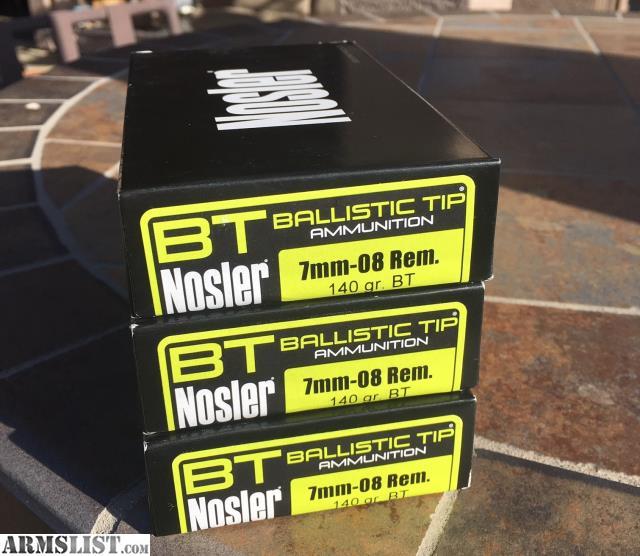 ARMSLIST - For Sale: Nosler 7mm-08 ammo ammunition