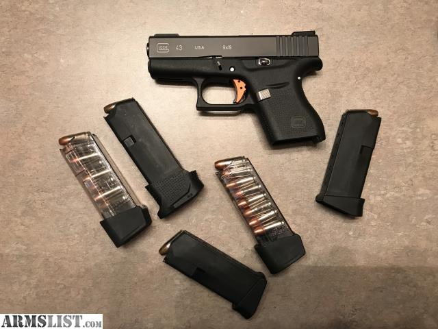 ARMSLIST - For Sale: Glock 43: A lot of UPGRADES